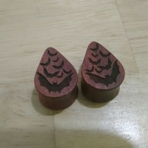 Jewelry - Bloodwood Bat Plugs